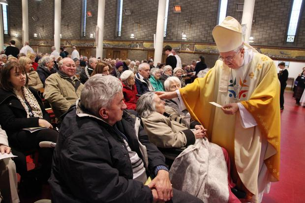 Archbishop Diarmuid Martin at the special Mass in Dollymount