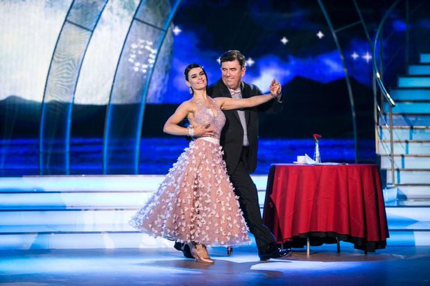 Des Cahill performing with dance partner Karen Byrne