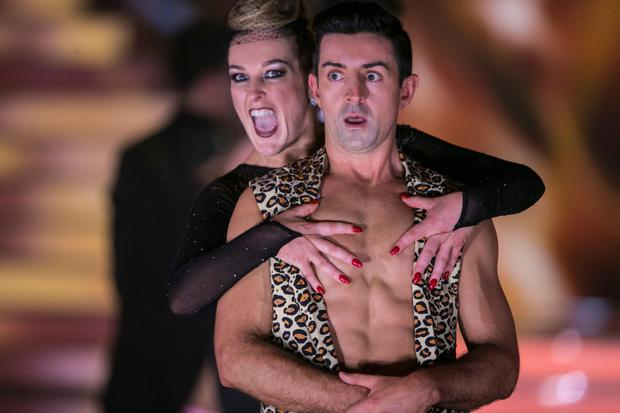 Katherine Lynch with Aidan O'Mahony ,during the Switch up week in Dancing with the Stars.