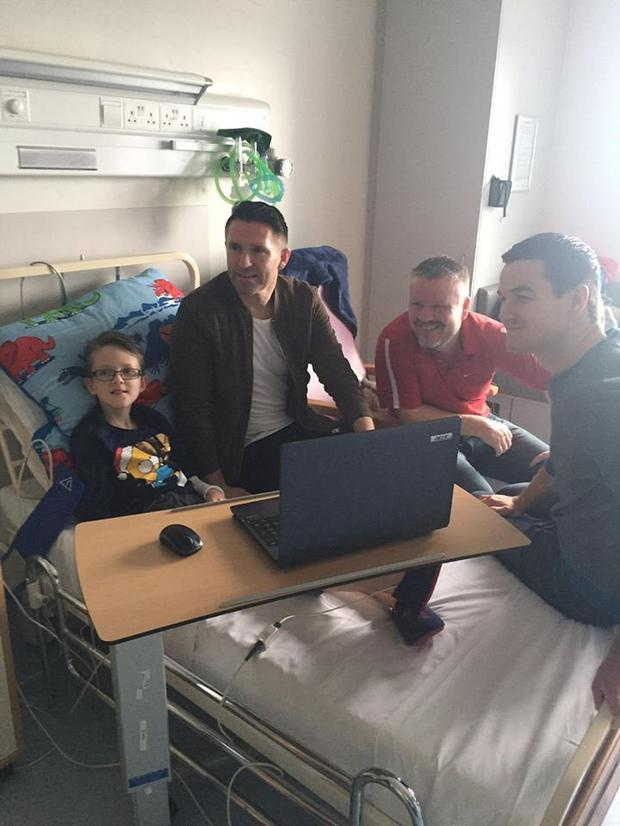 Gavin previously meeting sports stars Robbie Keane and Johnny Sexton in hospital
