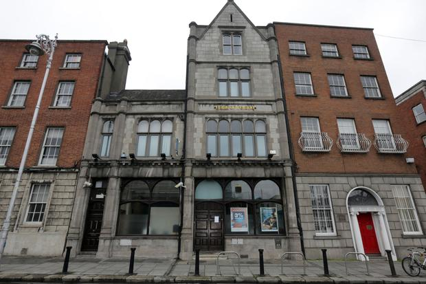 The Bank of Ireland branch was closed after the incident