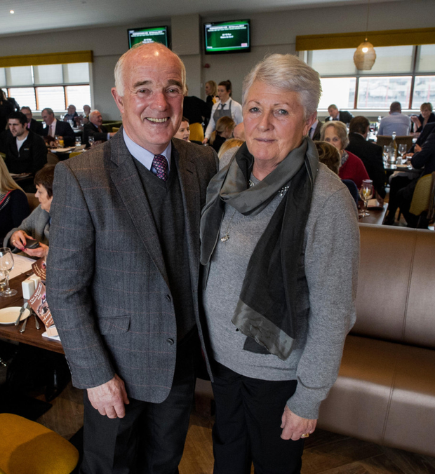 Ted and Helen Walsh at the new La Touche restaurant