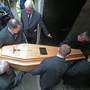 Cardinal Connell's remains are taken to the crypt under St Mary's Pro-Cathedral, Dublin