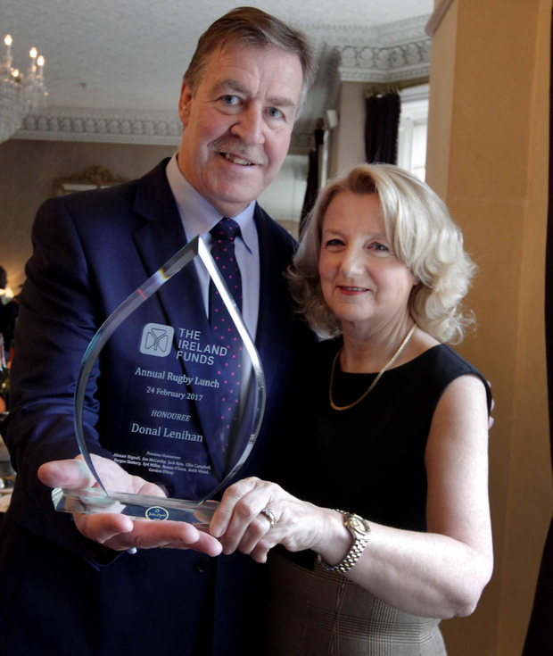 Donal and Mary Lenihan at the Ireland Funds Rugby Lunch