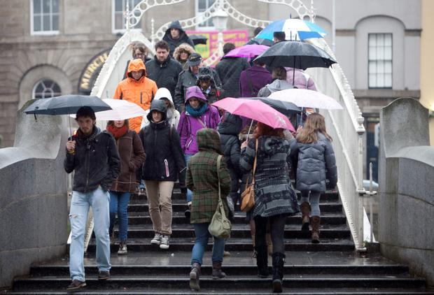 Umbrellas are set to be unfurled with a vengeance across the country this weekend