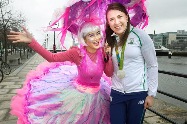 Annalise Murphy (right) with Piyanuch Chanphet of Artastic