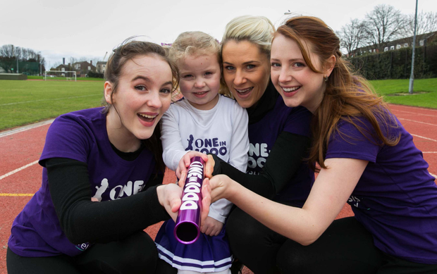 Ann Skelly, Grace Duffy, Evanne Ni Chuilinn and Roisin O'Donovan at the campaign launch at the Irishtown Stadium Picture: Shane O'Neill