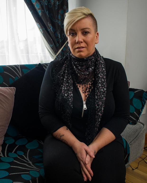 Caroline Sherwin staged a sit-in protest at the hospital when staff told her to go home