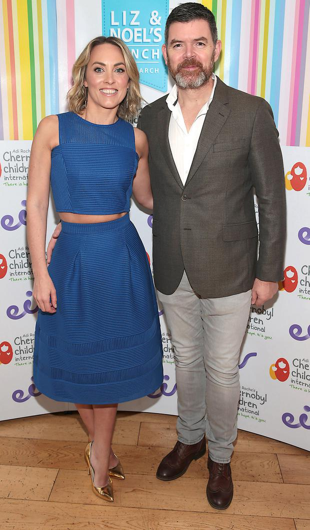 Kathryn Thomas and Padraig McLoughlin at Liz and Noel's Chernobyl Lunch in Fire Restaurant, Mansion House on Dawson Street,Dublin