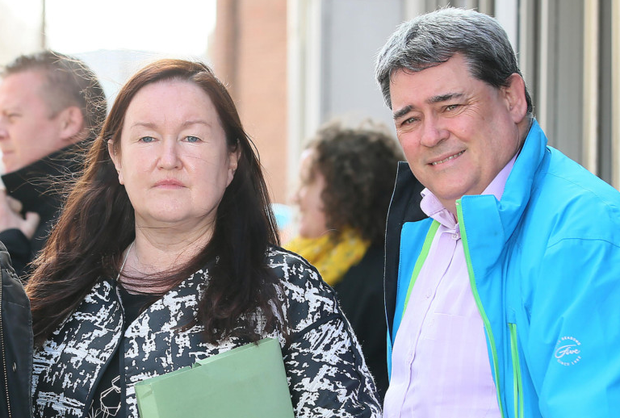 Siptu's Ethel Buckley and former Clerys worker Gerry Markey at the Clerys hearing at An Bord Pleanala in Dublin. Photo: Frank McGrath