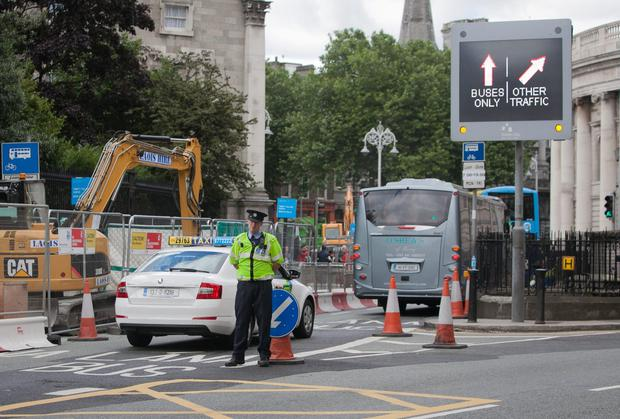 Luas line construction has left the city centre like a 'war zone'