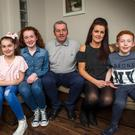Belinda McCann, who suffered a stroke aged 35, with husband Carl and their children (left to right) Carla, Abbie and Ben