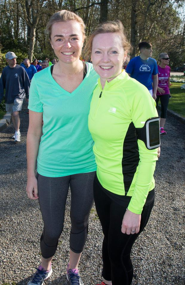 Pictured taking part in The Ardgillan Castle Park Run at Skerries were Rachael Clifford and Cara Cochrane