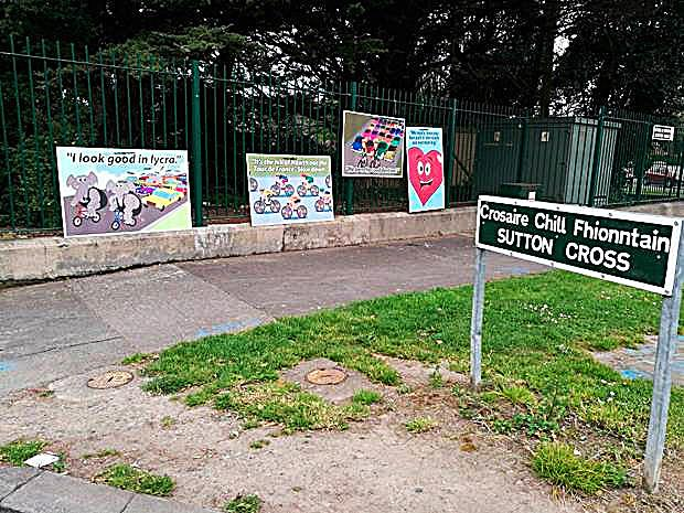 The posters on the hill of Howth road have now been removed