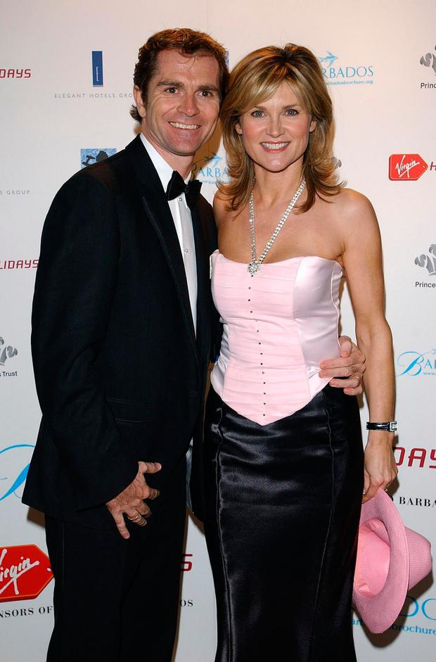 Anthea Turner and Grant Bovey. Photo: PA