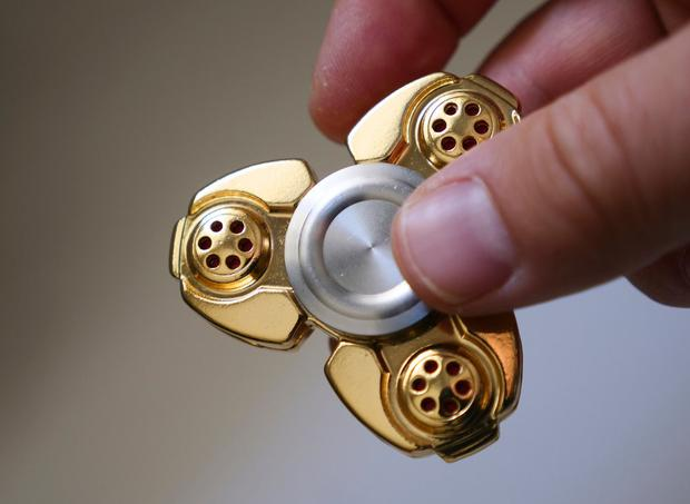 A typical fidget spinner