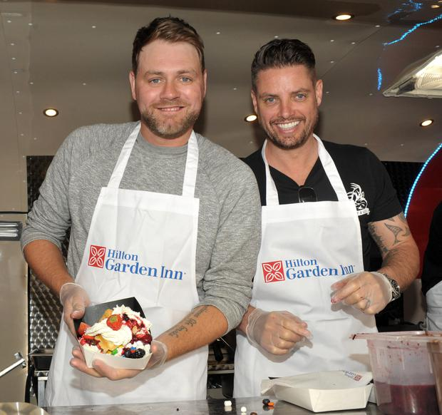 Boyzlife members Brian McFadden and Keith Duffy Picture: John Dardis
