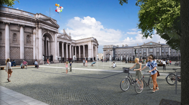 An artist's impression of the proposed College Green plaza which, if built, will accommodate 15,000 people