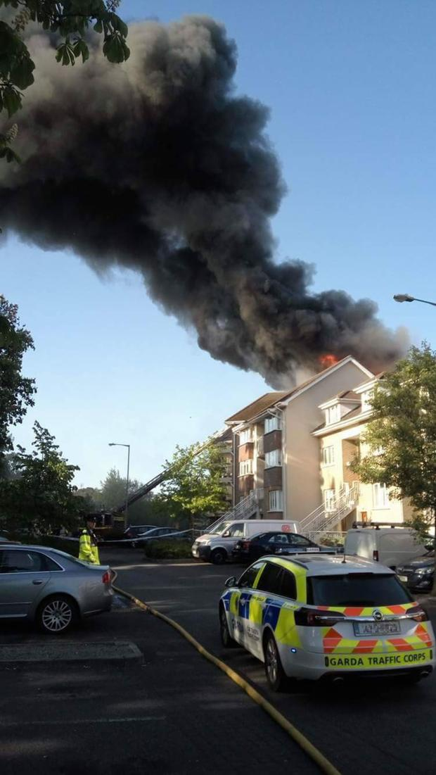 The fire rages at the Verdemont apartment block