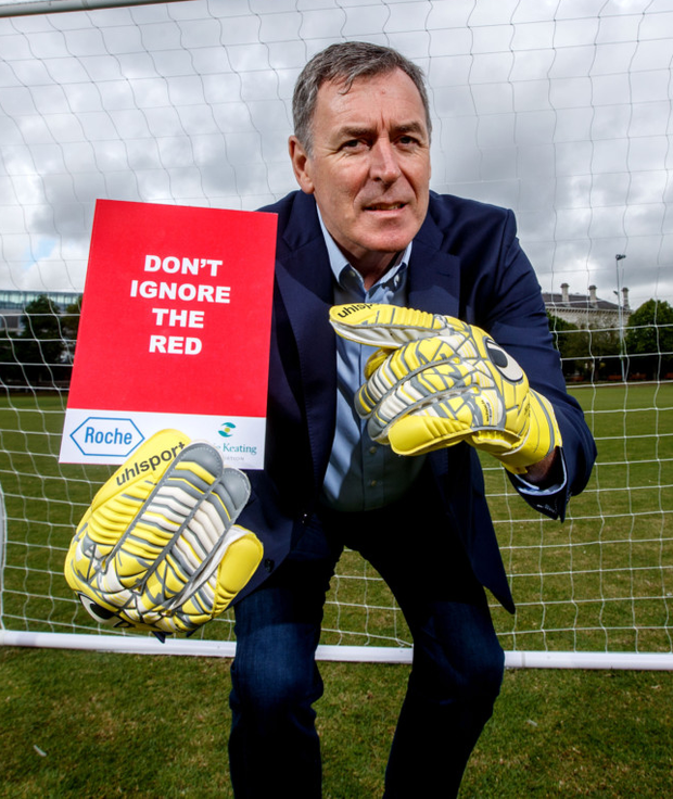 Packie Bonner at the Don't Ignore The Red campaign launch