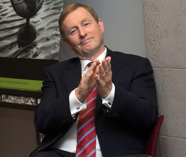 Kenny during the launch of the Finite Lives Dying, Death and Bereavement report just before the announcement of his resignation as Fine Gael leader