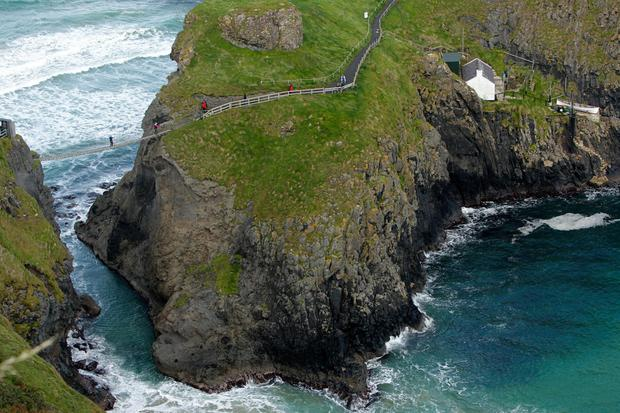 The Carrick-a-Rede rope bridge on the North's Causeway Coast. Photo: PA