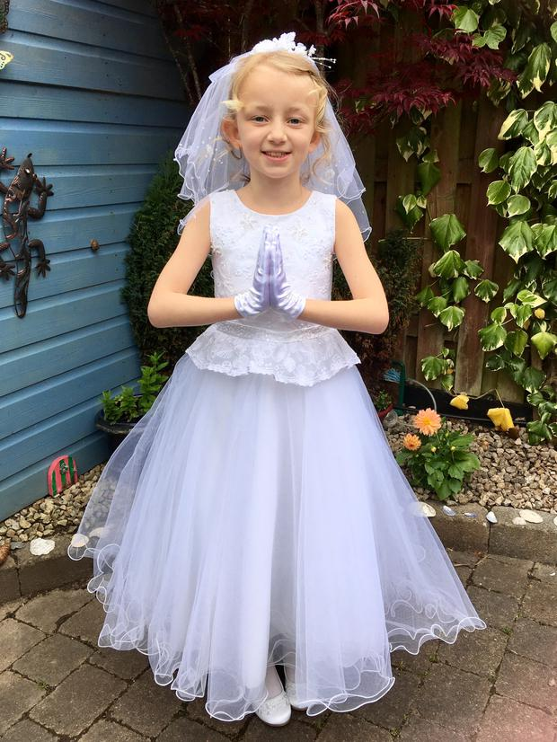Lily-Mae celebrates her First Holy Communion