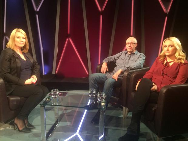 Chris Blount and Claire Reddin on Claire Byrne Live