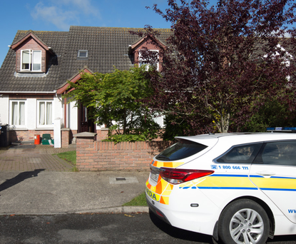 Gardai at the house in the Lagavooren Manor estate