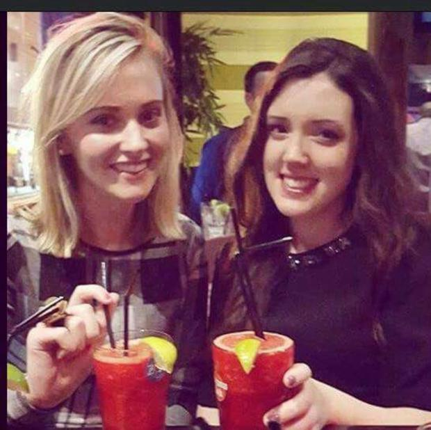 Jenna-Eve Smyth with best friend Emma O'Rourke. Jenna-Eve tragically died in a car accident in June 2016