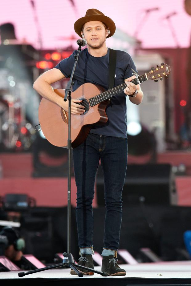 Niall Horan performing during the One Love Manchester benefit concert for the victims of the Manchester Arena terror attack