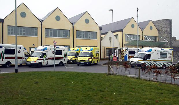 Investigations are under way into the attack at Naas General Hospital