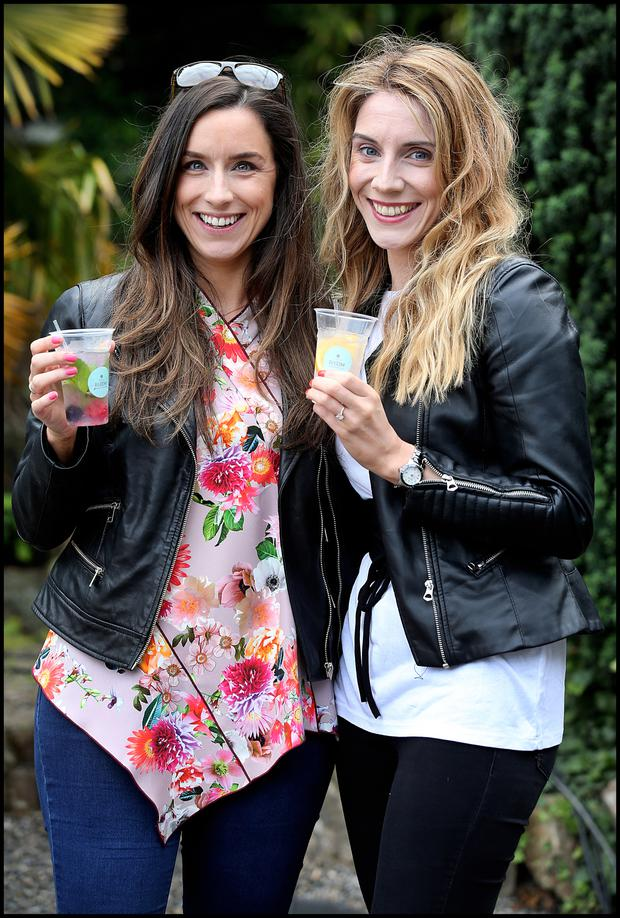 Lindsey Murphy from Castkleknock and Niamh Reilly from Kimore Dublin enjoying Taste of Dublin at Iveagh Gardens.