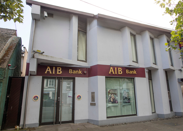 The scene of the bank robbery in Skerries. Photo: Arthur Carron