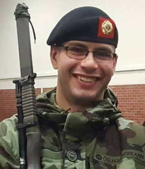 Private Daniel Donougher died suddenly after falling ill