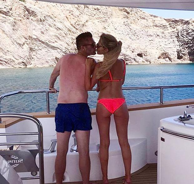 Robbie Keane and Claudine in Ibiza for their 9th wedding anniversary