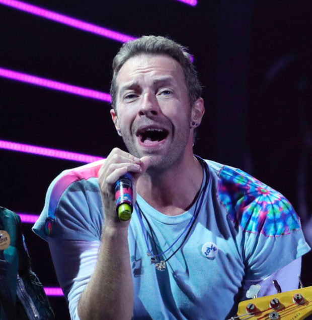 Chris Martin of Coldplay. Photo: AFP/Getty