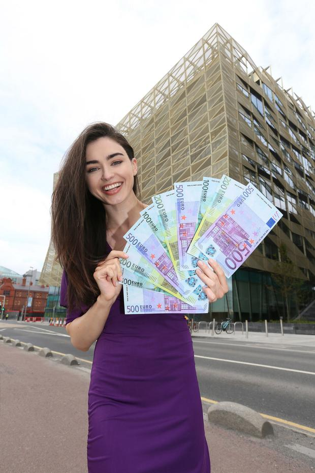 Model Sarah Tansey promoting the Euromillions