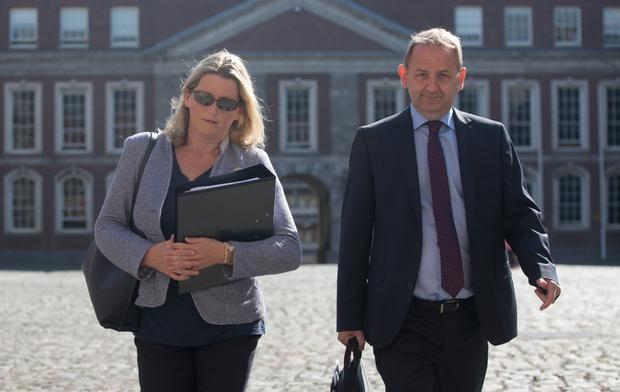 Maurice McCabe and his wife Lorraine arrive at the tribunal. Photo: Gareth Chaney/Collins Dublin