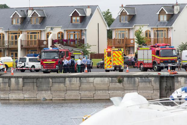 The scene of the fatal drowning at Tarmonbarry Harbour Marina, Co. Roscommon
