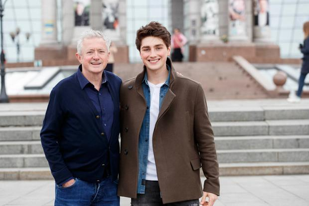 Irish Eurovision entry Brendan Murray is joined by manger Louis Walsh in Kyiv ahead of tonight's Eurovision second semi-final. Picture Andres Poveda