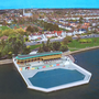 Artist's rendition of the refurbished Clontarf Seawater Baths