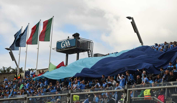 The iconic Dublin flag in Hill 16 has been banned from Croke Park by the GAA.
