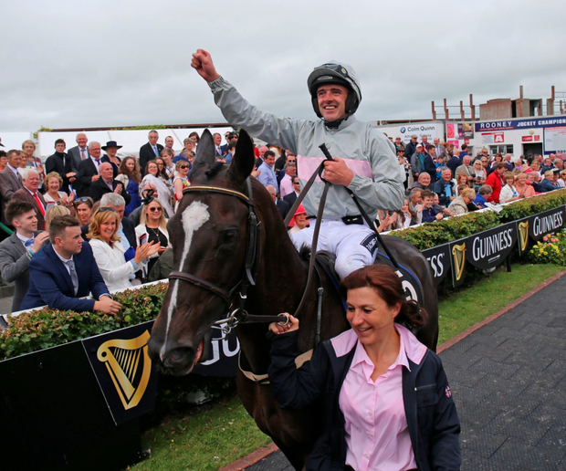 Ruby Walsh and Clondaw Warrior after winning last year's Galway Hurdle PA