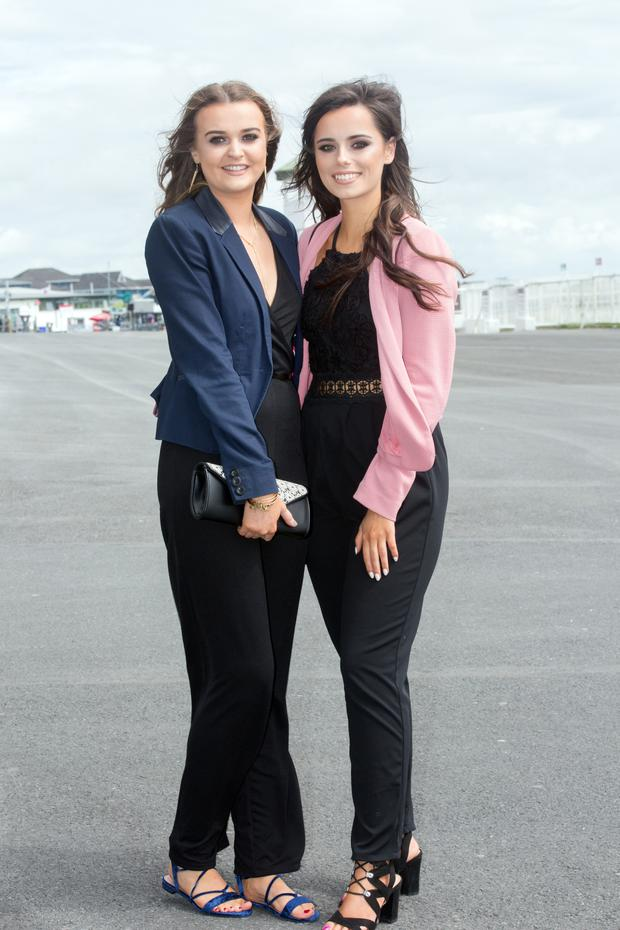 Roisin Duff and Gillian Campion from Laois were at The Galway Races
