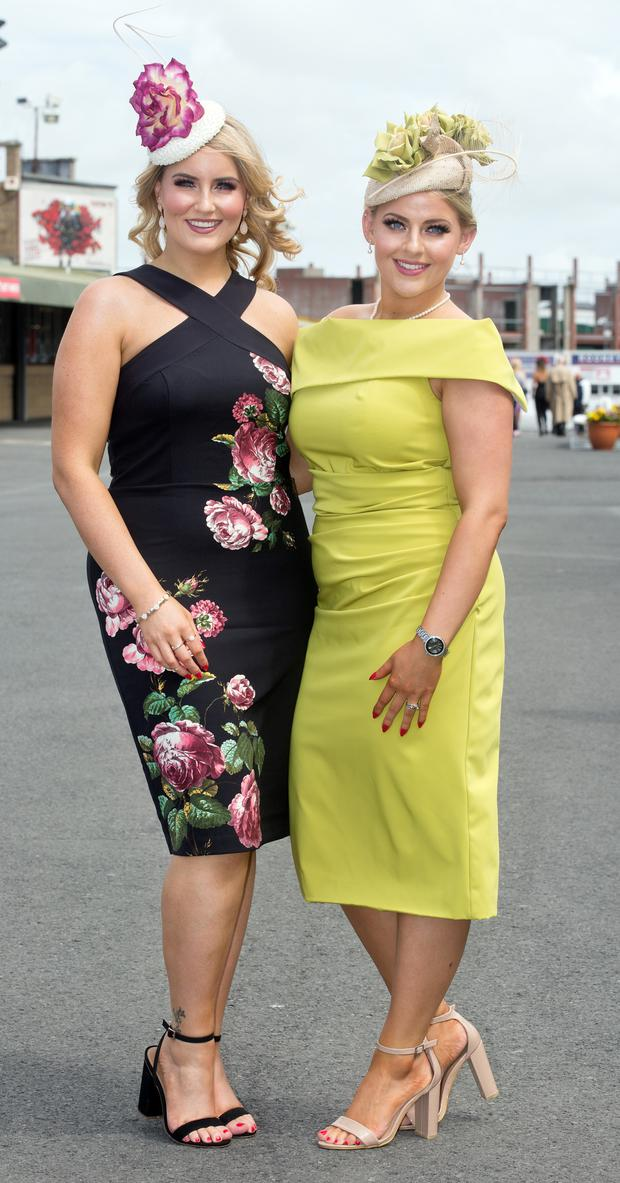 Sisters Kara and Shauna Ellis from Clarinbridge were at The Galway Races.