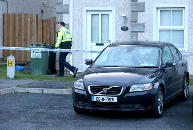 Bullet holes in a car after a man was shoot at in Stamullen, Co. Meath