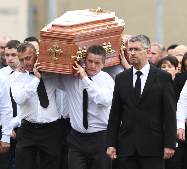The funeral of Kevin Murray, who had motor neurone disease