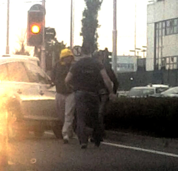 Gardai arrest a man on the Kylemore Road last week