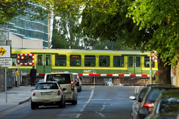 The number of cars entering level crossings fell last year. Photo: Kyran O'Brien